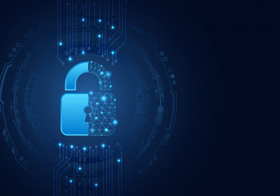 Data,Protection,Privacy,Concept.,Padlock,Icon,And,Internet,Technology,Networking